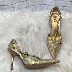 Carlos Santana Expose Beige/Gold Pumps Size 9